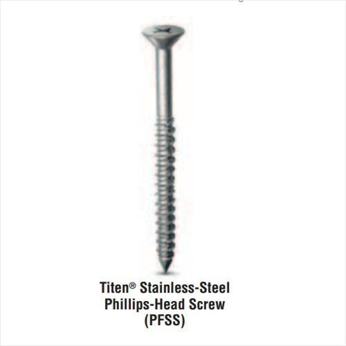 (400 Count) Simpson Strong-Tie TTN25400PFSS Titen-Phillips HD 1/4-Inch x 4-Inch Concrete and Masonry Screws - 410 Stainless Steel by Simpson Strong-Tie