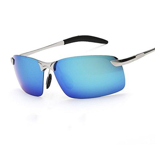 Color Aire Solar Azul Conducción 100 UVA Libre Protección Black Gafas Hombres Polarizada Black Anti UV Gafas Protección De Clásico Gafas De Luz Sol WYYY Rng6Y8n