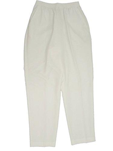 Alfred Dunner Capri Pants - Alfred Dunner Pants White
