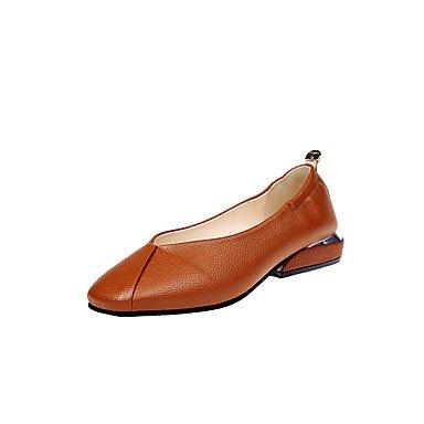 EU38 Marrón1A Mujer Formales Caída Zapatos UK5 Negro Tacones Zapatos Bajo De En El amp;Amp; Parte US7 Talón Pu Formales CN38 Comodidad Caminar 5 Casual Traje La Noche Comodidad 5 Blanco 1 wpqtgqd