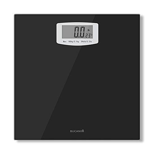 Bucanim Digital Bathroom Scale with Temperature Function Body Weight Scales Fitness Tracker with High Precision Weighing…