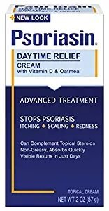 Psoriasin Daytime Relief Cream Advanced Treatment with Vitamin D and Oatmeal 2oz per Box (12 Pack)