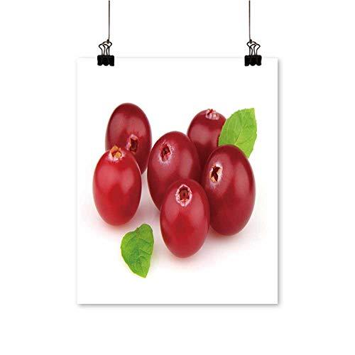Single paintingripe cr Berry Leave Mint Office Decorations,32
