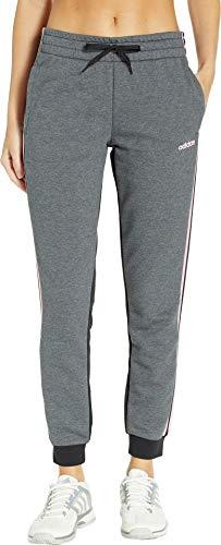 adidas Women's Essentials Color Block Pants, Dark Grey Heather/Black, ()