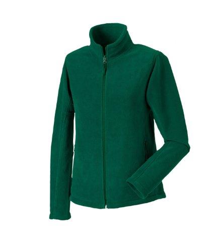 Russell para mujer Full cremallera chaquetas de forro polar al aire libre Verde botella
