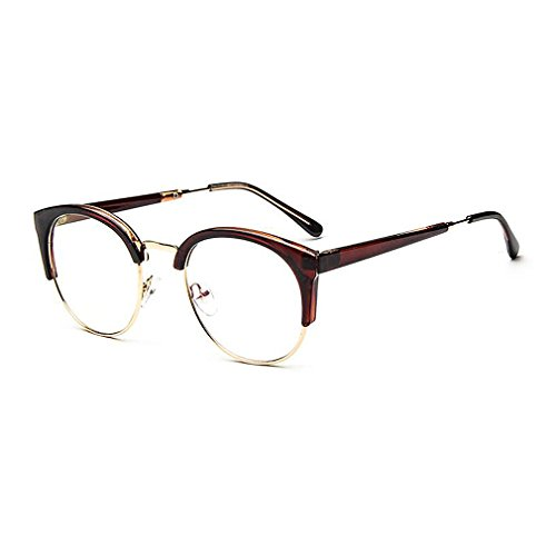 MOQQE Eyeglasses Glasses Frame Eyewear Fashion Cateye Round For Men and - Can Where Reading Glasses I Bifocal Buy