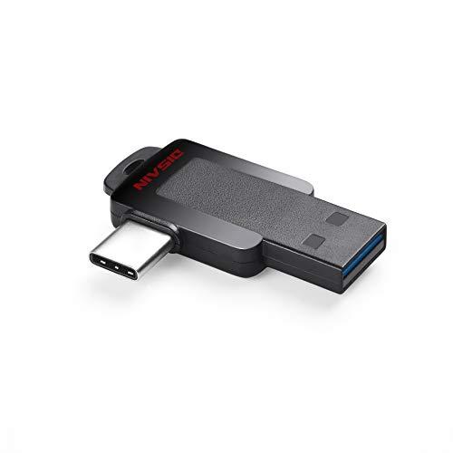 USB C Flash Drive, DISAIN 16GB Mini Type C Flash Drive(USB-A 3.0/USB-C 3.0), High Speed Dual USB Thumb Drive Photo Stick for USB-C Smartphones, Tablets, PC, MacBook - Flash 16 Dual Gb