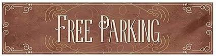 CGSignLab Free Parking Victorian Card Heavy-Duty Outdoor Vinyl Banner 12x3