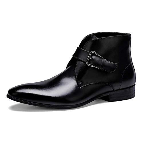 NIUMT Autunno E Inverno Caldo Affari Stivali Chelsea Casual Stivali da Uomo in Pelle Comfortable Black