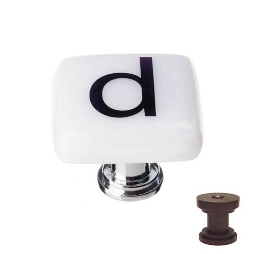 New Vintage Square Knob Finish: Oil Rubbed Bronze, Letter: d ()