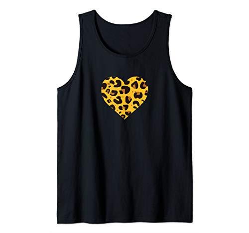 I Love Cheetahs Gift Cheetah Print Heart Cat Stripes Safari Tank Top