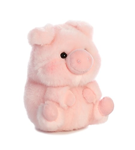 Aurora World 16833 Rolly Pet Prankster Pig Plush, 5