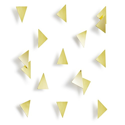 - Umbra Confetti Triangles Home Wall Décor - 16 Pack Easy To Install, Self-Adhesive Polished Brass Home Wall Decorations - Modern Wall Art Décor - Great For Living Room, Bedroom - Affects Your Emotions