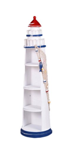 39'' Lighthouse Shelves Nautical Tropical Home Decor by Nautical Tropical Imports