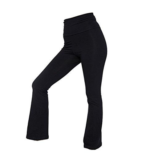 American Apparel Womens/Ladies Plain Cotton Spandex Jersey Yoga Bottoms (M) (Black)