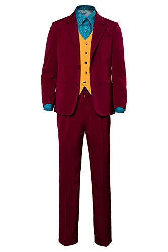 Mens Halloween 2019 Joker Cosplay Costume Red Shirt Vest Suit Party Outfit,Large (Best Cosplay Costumes 2019)