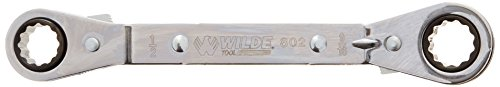 (Wilde Tool 802 Offset Ratchet Box Wrench, 1/2 inch x 9/16)