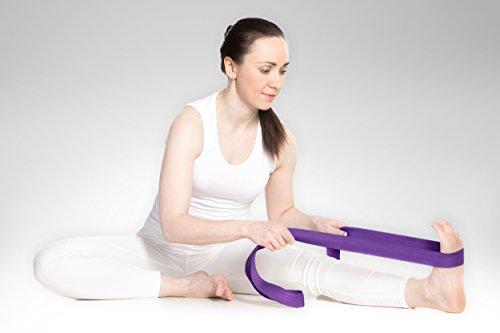 YogaAccessories 8' Cinch Buckle Cotton Yoga Strap (Purple)