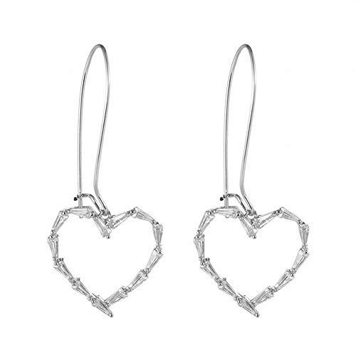 Floral Earrings, Female Earrings, Fan-Shaped Tassel Earrings, Creative Personality Earrings, Simple Atmospheric Earrings, Stylish Tassel Earrings, Stainless Steel Hypoallergenic Earrings,G,Silver PLLP - 2 Piece Pierced Lighting