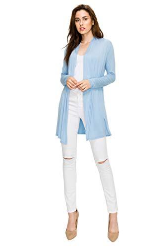 9cb1d35d750 EttelLut Long Lightweight Wrap Cardigans Sweaters Open Front Regular Plus  Size