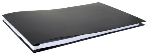 11x17 Report Cover Poly Pressboard Binder With Fold-over Metal Fasteners (Black)