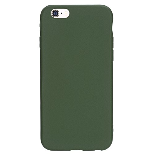 Manleno iphone 6 Case Soft TPU Matte Cover Case for iphone 6s 6 4.7 inch (Olive - Matte Green