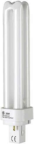 2700K F26DBX//827//ECO 26-Watt Double Tube Compact Fluorescent Light Bulb G24d-3 Bi-Pin Base GE 97606 T4 Shape 4-Pack 1545 Lumens 82 CRI