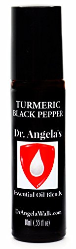 Dr. Angelas Turmeric Black Pepper Therapeutic Grade Essential Oils | Muscle and Joint Pain | Inflammation Support | Migraine and Headache Relief Roll-On Bottle (10 ml)