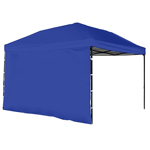 Punchau Pop Up Canopy Tent with Sidewall 10 x 10 Feet, Blue - UV Coated, Waterproof Instant Outdoor Party Gazebo Tent