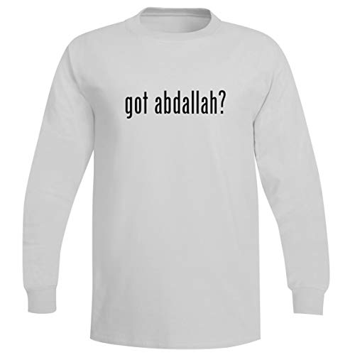 Almond Cherry Toffee - The Town Butler got Abdallah? - A Soft & Comfortable Men's Long Sleeve T-Shirt, White, XXX-Large