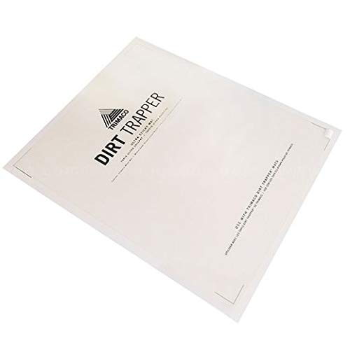 Trimaco Dirt Trapper Ultra Sticky Mat, 24 Inches x 30 Inches, Clear - 30 Sheets/Pack (20 Pack)