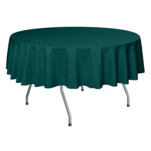 Ultimate Textile 60-Inch Round Polyester Linen Tablecloth Teal (Teal Table Cloth Linen)