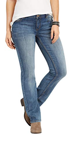 maurices Women's Straight Leg Jean - Denimflex Mid Rise Medium Wash from maurices