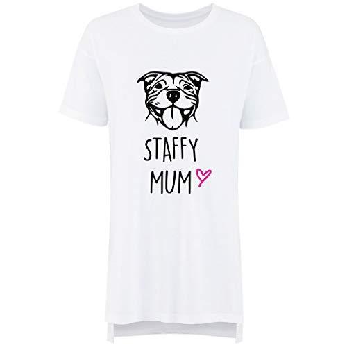 Limited 60 De Fête Femmes Staffy Nuisette Second Nuit Ami Des Maman Mères Blanc Makeover Chemise Pyjama EfwfqH