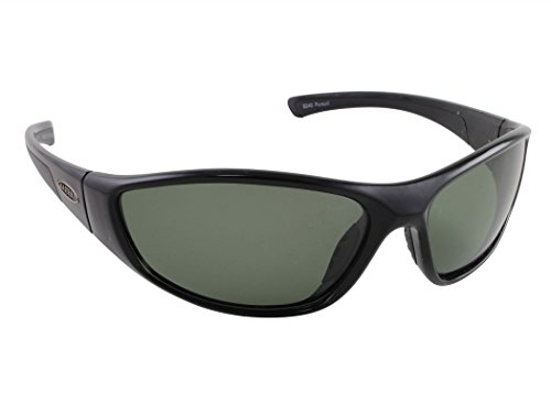 Sea Striker Pursuit Polarized Sunglasses with Black Frame and Grey Lens (Fits Medium to Large Faces) by Sea Striker