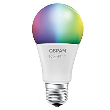 OSRAM Smart+ LED, ZigBee Lampe mit E27 Sockel, warmweiß bis tageslicht, Farbwechsel RGB, dimmbar, Direkt kompatibel mit Echo