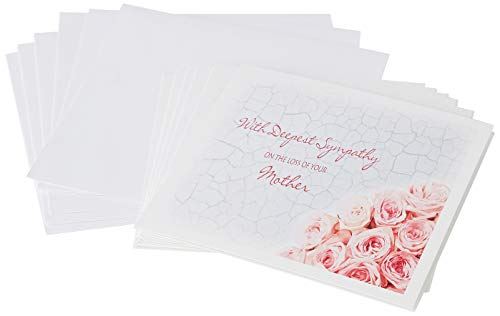3dRose Greeting Cards, 6 x 6 Inches, Pack of 6, with Deepest Sympathy on the Loss of your Mother ()