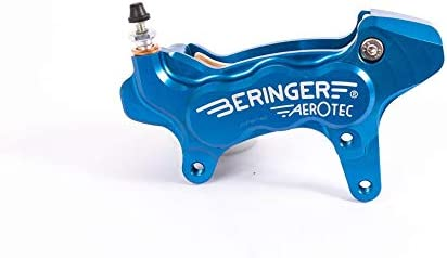 Beringer Bremssattel axial links Aerotec® 6 Kolben Ø27 mm blau