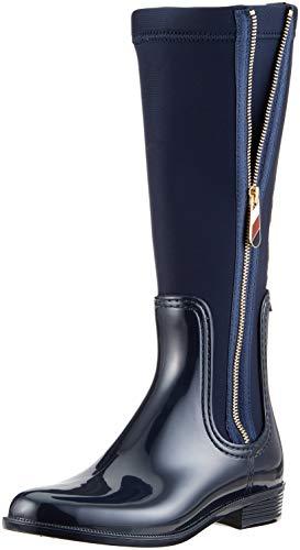 Mujer Rain Botas Azul Mix Altas Tommy 403 Boot Material Hilfiger Midnight para Long BWZxwnaqz