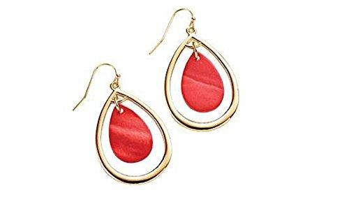Avon Dangling Earrings - Ocean Treasure Earrings - Coral