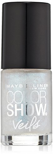 (Maybelline New York Color Show Veils Nail Lacquer Top Coat, Crystal Disguise, 0.23 Fluid Ounce)