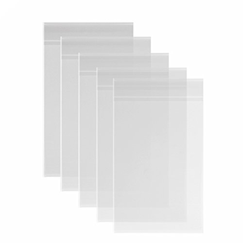 100ct Clear Cello Bags 11 3/8 x 14 1/8 inches 3.2 Mils for 11x14 Books, Photo Framing Mats Mattes Items, Art Prints, Posters by Quotidian
