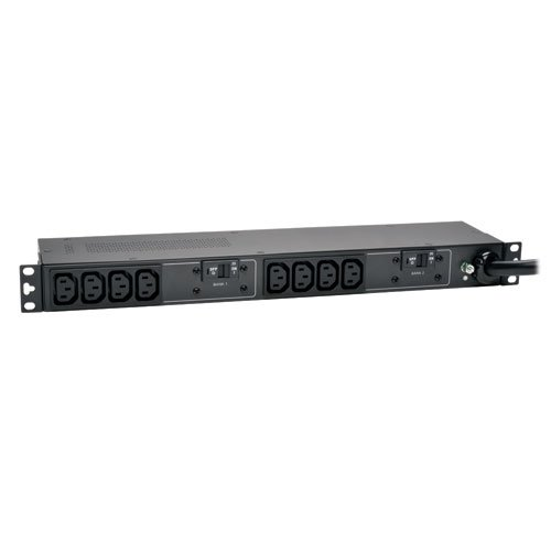 Tripp Lite Basic PDU, 30A, 10 Outlets (C13), 208/240V, L6-30P, 12 ft. Cord, 1U Rack-Mount Power (PDUH30HV)