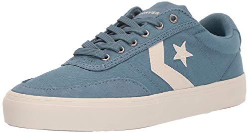 Converse Men's Unisex Courtlandt Canvas Low Top Sneaker, Celestial Teal/White 7 M US