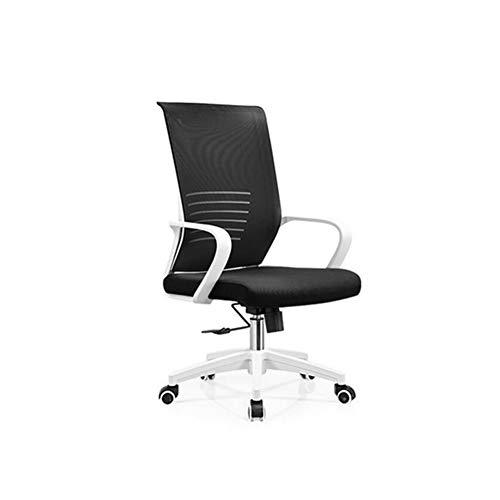 KTYXDE Swivel Chair Leisure Desk Chair Mesh Home Modern Minimalist Lift Computer Office Chair Swivel Chair (Color : Ack+Green) (Ack Green)