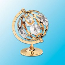 Swarovski Crystal Table Lamp - Spinning Globe Table Decor