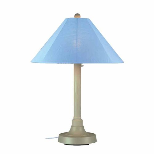 - Patio Living Concepts San Juan 34 in. Outdoor Bisque Table Lamp with Sky Shade