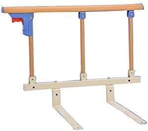 GDNA 手すり無料パンチングガードレールのために子供のベッド子供ガードレール肥厚アンチドロップ高齢者のための介護ベッドの落下防止 (Size : Wood grain)