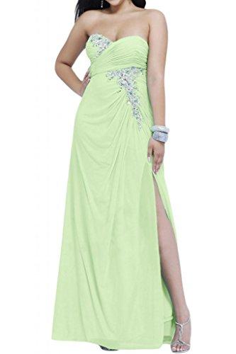 Ranura en forma de corazón de la Toscana de novia vestidos de Gasa de noche elegante vestido a largo bola de vestidos de fiesta Salbei