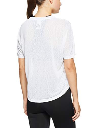 White Donna Tee Logo Bianco Adidas Camicia Sportiva white Magic Bqa4wp8